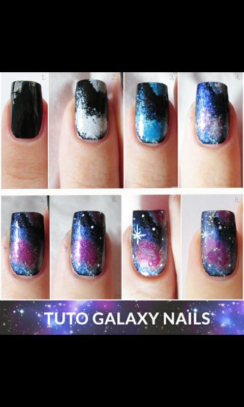 ♥ TUTORIEL NAIL ART GALAXY ♥