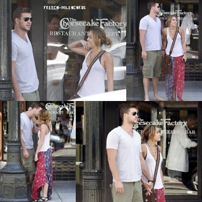 Miley et Liam A Cheescake Factory et shopping à Santa Monica, CA - le 25 août 2011