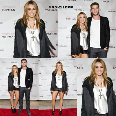 Miley et Liam au Dîner privé par Topshop au Paris Club de Chicago, IL - le 7 septembre 2011