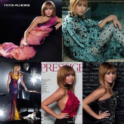 Miley pose pour le magazine PRESTIGE