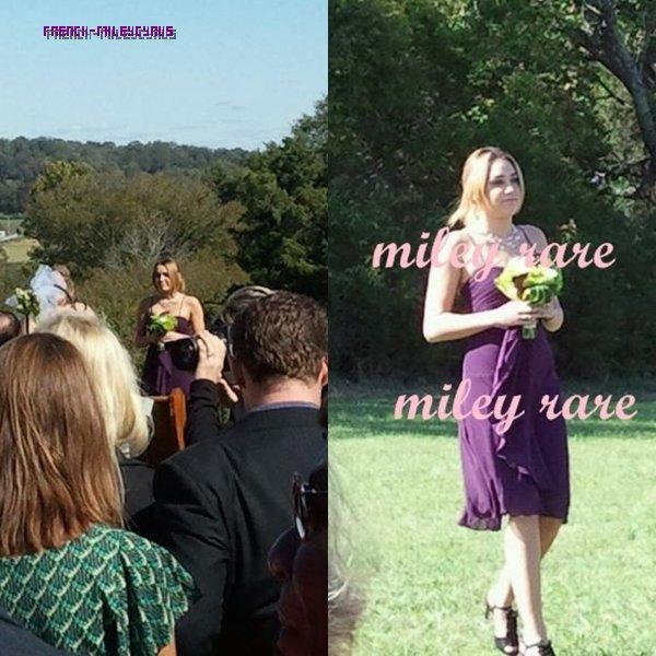 miley au Mariage de son oncle à Nashville, le 1er octobre 2011