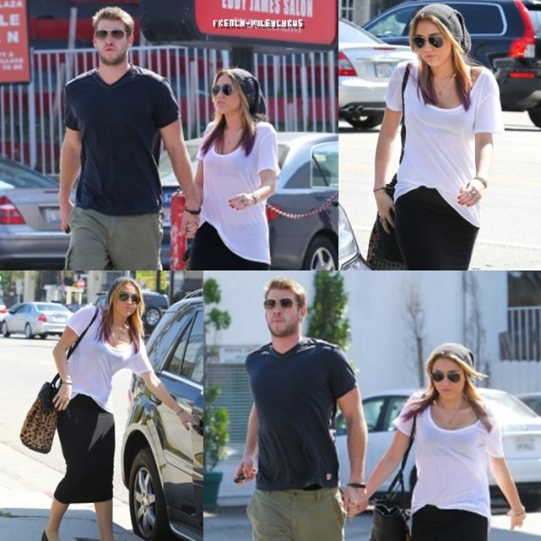 Miley et Liam Allant déjeuner à Los Angeles, CA - le 18 octobre 2011