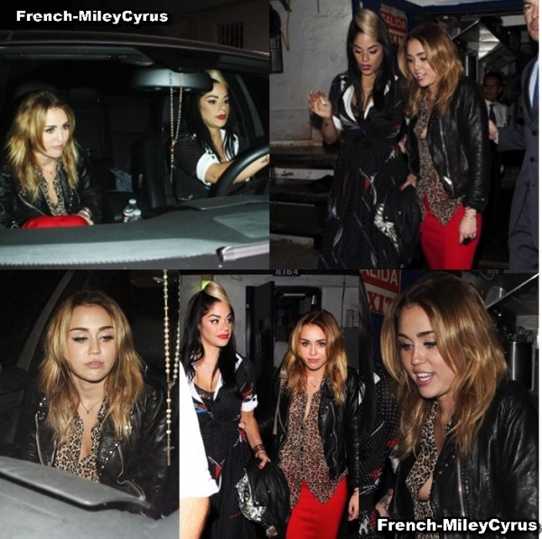 miley et sa coiffeuse Quittant le club Little Door à West Hollywood - le 27 octobre 2011