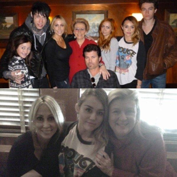 Miley Au Brunch d'anniversaire de sa grand-mère à Studio City, CA - le 6 novembre 2011