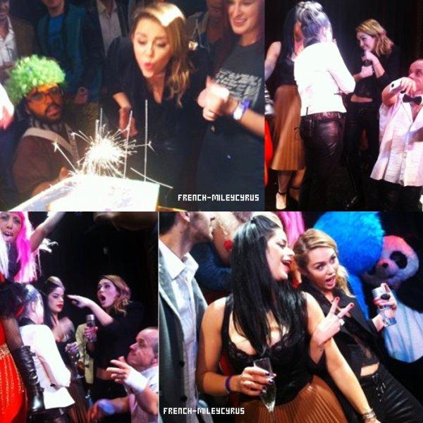 """Miley a fêter ses 19 ans dans un club qui s'appelle """"Madhouse"""" los angeles"""