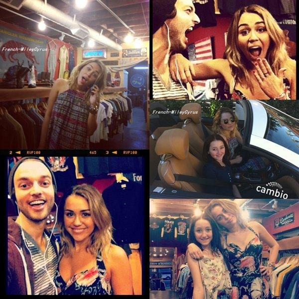 Miley et sa petite soeur Noah Allant chez Chucks Vintage à Los Angeles faire du Shopping , CA - 27 janvier