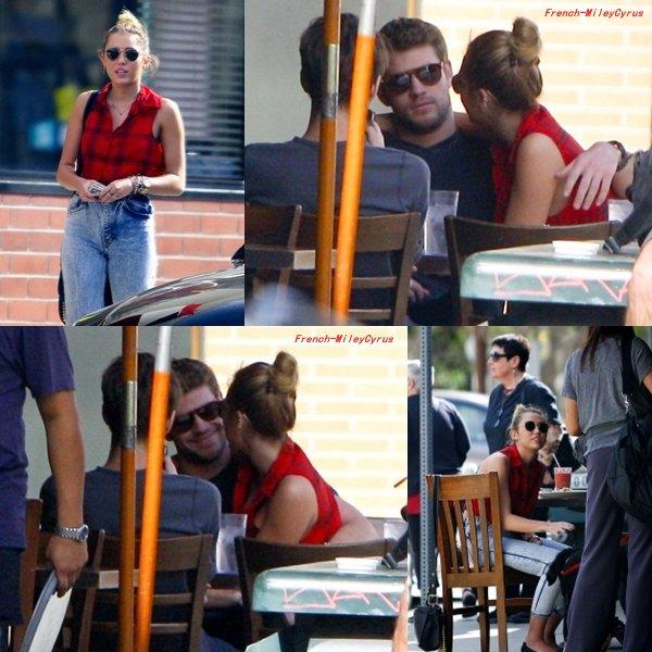 Miley et Liam Allant déjeuner à Los Angeles, CA - 29 janvier