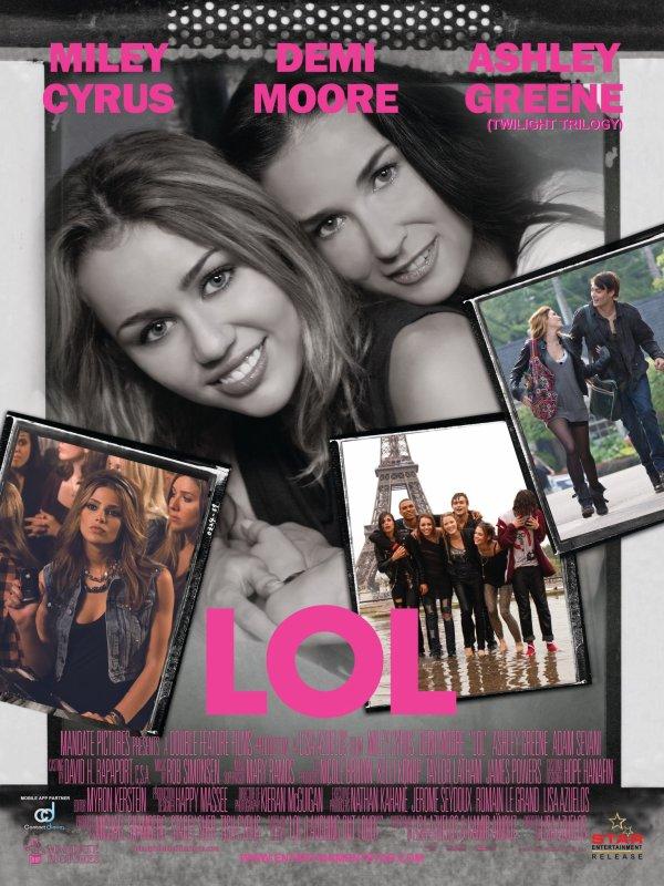 "Affiche du Film ""LOL"" + Miley parle du film ""LOL"""