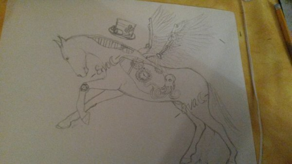 steampunk horse for PN