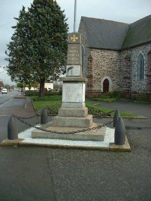 st jacques de la lande 35 monument + stele
