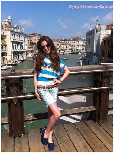 Ryan pendant sont séjout a Venise & Rome (Italie)