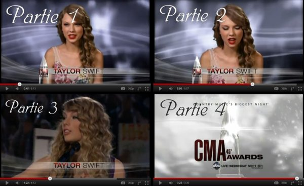 Le 8 Novembre 2O11 ღ Taylor présente au 59th Annual Country Awards