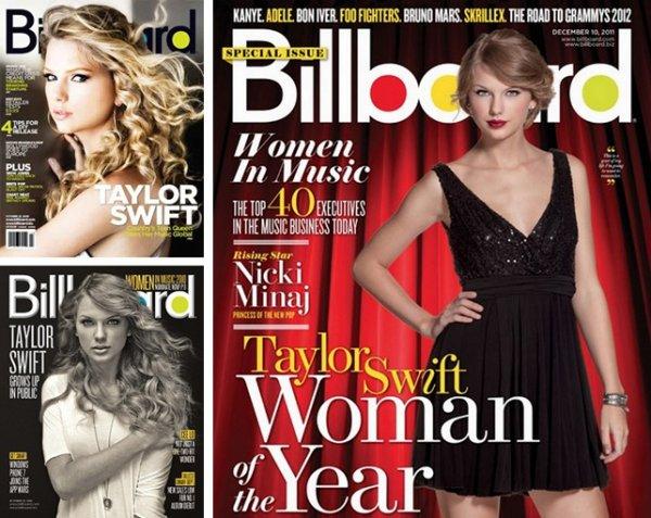 """Taylor encore une fois à la tête du magasine """"Billboard Women in Music"""" ღ"""