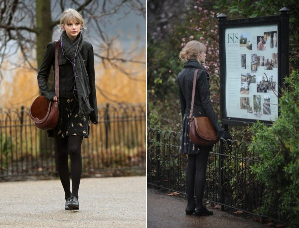 24 Janvier 2012 ღ Taylor fait du shopping à Londres
