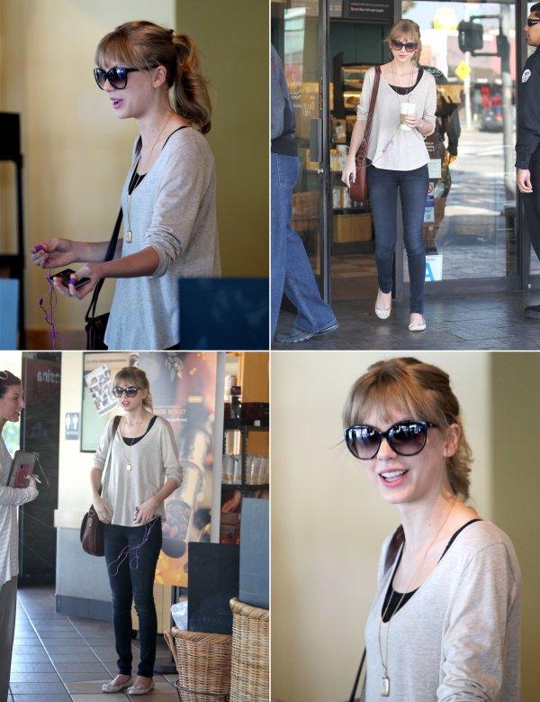 1 Février 2012 ღ Taylor prend un café à Starbucks et se rend à un studio d'enregistrement
