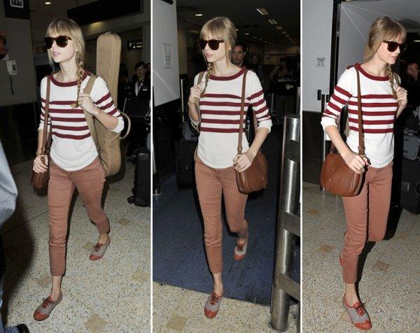 28 Février 2012 ღ Taylor arrive à l'aéroport de Sydney... Que la tournée commence !