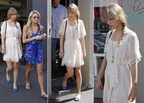 13 Mars 2012 ღ Taylor fait du shopping Fitzroy à Melbourne en Australia