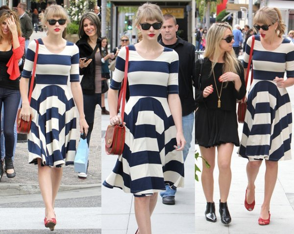 24 Avril 2012 ღ Taylor fait du shopping chez Victoria's Secret à Los Angeles