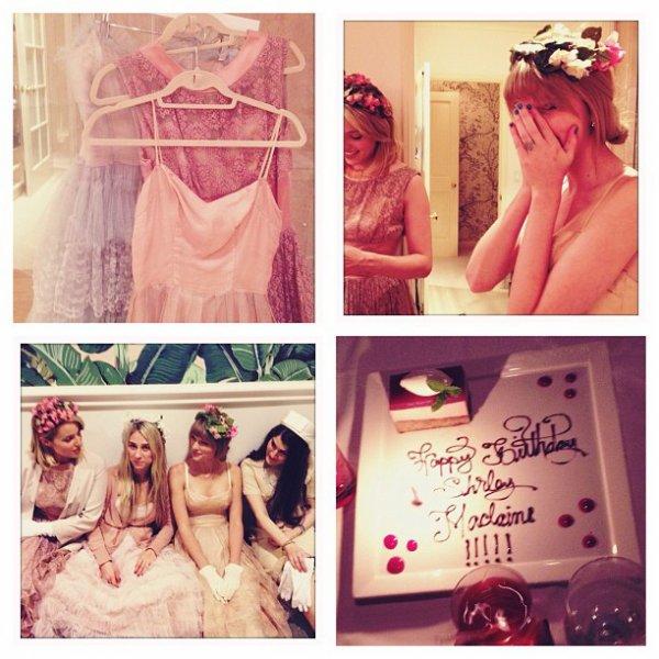 24 Avril 2012 ღ Taylor fête l'anniversaire de l'actrice Shirley MacLaine à l'Hôtel Beverly Hills