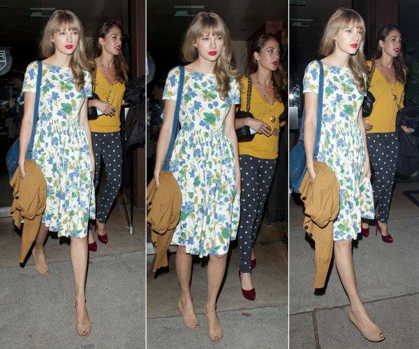 6 Juin 2012 ღ Taylor a été aperçue quittant le « Cut Salon » à Brentwood