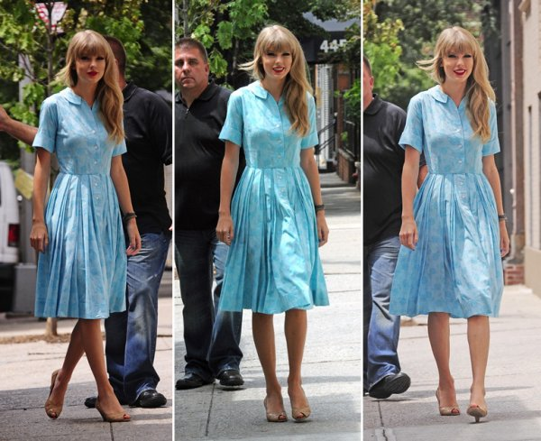 28 Juillet 2012 ღ Taylor quittant un studio à New York