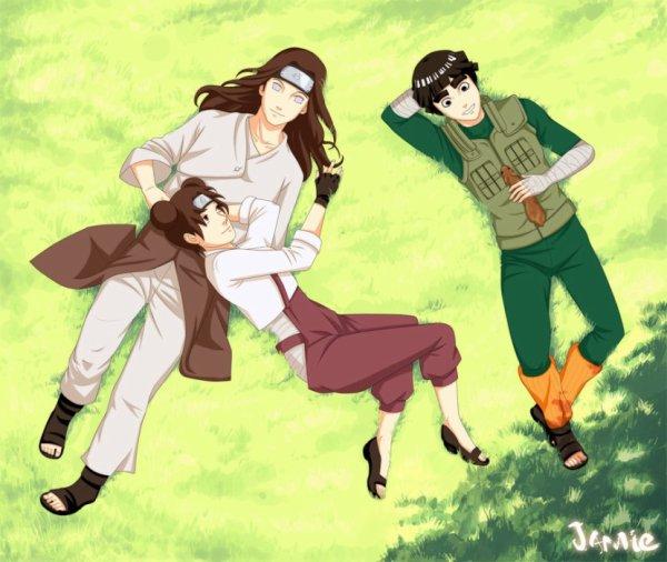 Neji And Tenten Kiss Neji, Tenten et Lee - ...