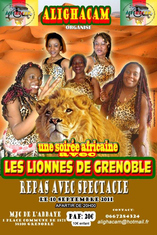soirée africaine  organisée par ALIGHACAM( association des lionnes de Grenoble pour les handicapés au cameroun)