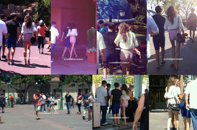Eleanor et Louis à DisneyLand le 22 juin 2012