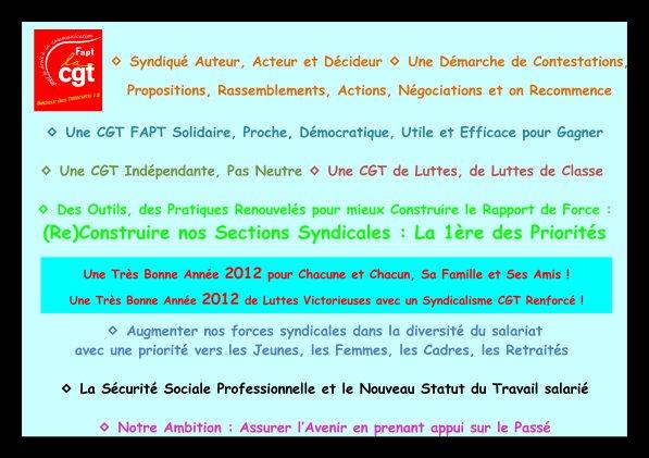 CGT France Télécom 13 --> Nous on sait ce qu'on voeux en 12 !