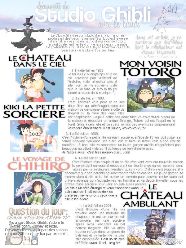 découvrez (ou pas) les merveilles de miyazaki!