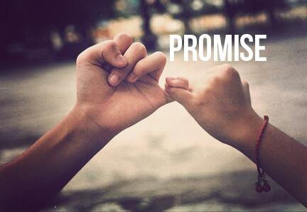 I'll promise you..only when I believe in you...