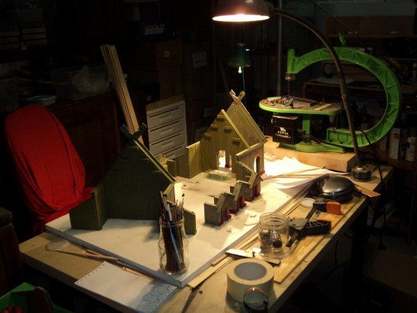 vue de l'atelier dans le garage