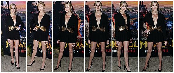 ------------+ -28/11/2018- La magnifique Katherine était présente à l'avant première du film « MOWGLI » à - Los Angeles Kat portait de nouveau, une robe noire au décolleté plongeant, de jolies escarpins noirs et une ceinture dorée ! Tenue : ★★★★★ ------------+