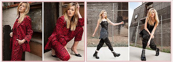 ------------+ -NOVEMBRE 2018- La belle Katherine McNamara  a récemment fait un photoshoot pour le magazine « Grumpy » Katherine est sublime, les tenues sont toutes aussi belles les unes que les autres. Je lui accorde un gros TOP ! Tenue : ★★★★★ ------------+