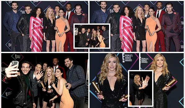 ------------+ 11/11/2018 : La belle Katherine a performé lors des « People Choice Awards 2018 » à Santa Monica - LA La série ShadowHunters a remporté le trophée de la meilleure série & Kath' a remporté celui de la meilleure actrice. Gros TOP pour la belle ! ♥  ------------+