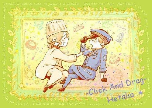 Petit Bonus ! : ᘛ Click And Drag ᘚ (Fairy Tail/Hetalia)