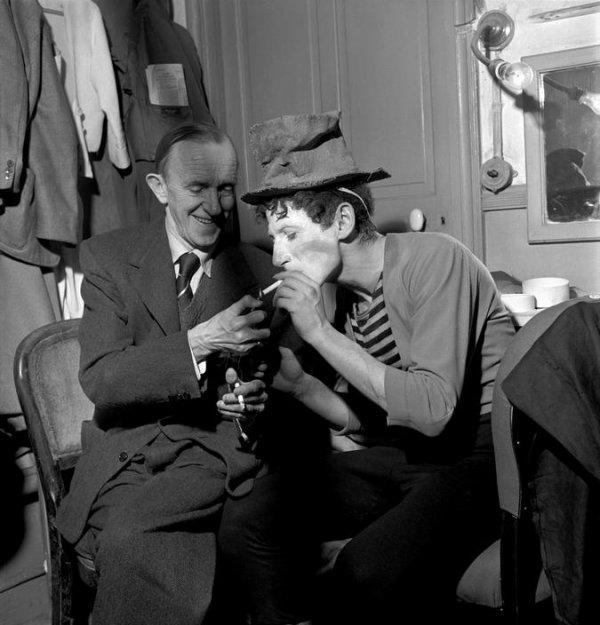 Stan Laurel (Laurel et Hardy) la rencontre avec Marcel Marceau