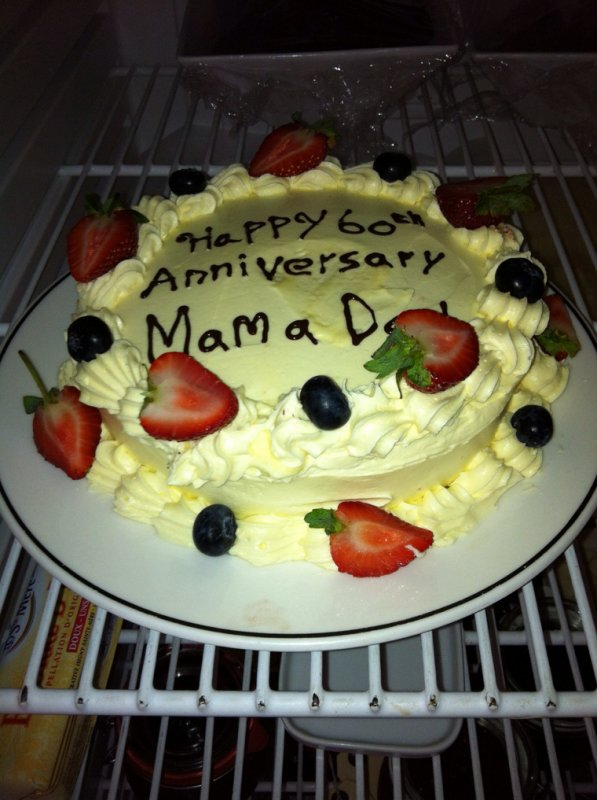 Happy 60 th anniversary mam a dad.