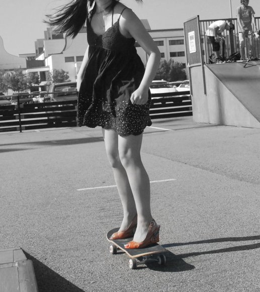 PICS OR IT DIDN'T HAPPEN - Skating in wedge heels with a story told by picutres!