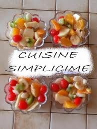 Dessert: salade de fruits d'hiver