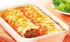 Plat principal: cannelloni à la bolognaise