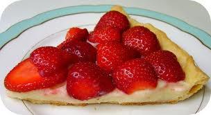 Dessert: tarte aux fraises