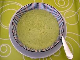 Soupe: velouté de courgettes au Boursin