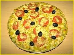 Entrée: Pizza au pesto et poulet