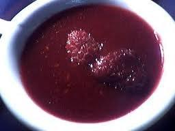 Sauce: Coulis de framboise