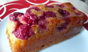 Dessert: Petit cake aux framboises