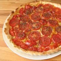Entrée: Tarte tomate moutarde