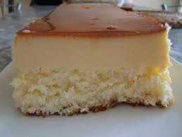 Dessert: Flan à la noix de coco