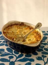 Plat principal: Gratin de pommes de terre aux anchois