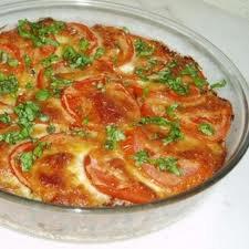 Entrée: Gratin de tomates
